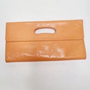 HOBO International Vintage Orange Leather Clutch